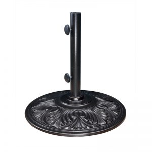 50lb Black Umbrella Base (Black) | Umbrella Base | Shop | Paddy O' Furniture