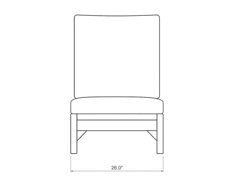 Costa Brava Chaise Lounge   Product Side Dimensions   Paddy O' Furniture