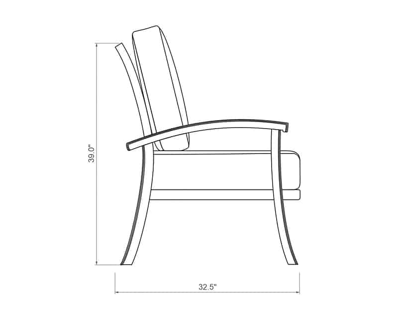 Cordova Dining Chair | Side Product Dimensions | Paddy O' Furniture