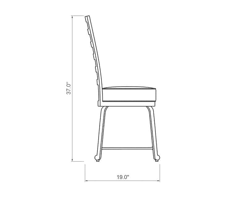 Emerson Dining Side Chair | Side Product Dimensions | Paddy O' Furniture