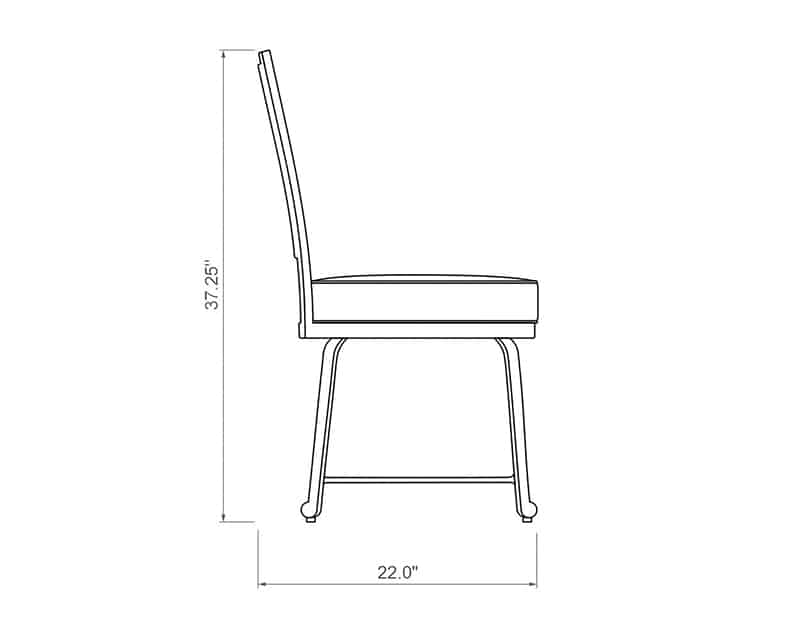 Francis Dining Side Chair | Side Product Dimensions | Paddy O' Furniture