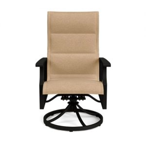 NEWPORT PADDED SLING SWIVEL DINING CHAIR