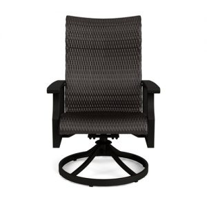 NEWPORT WOVEN SWIVEL DINING CHAIR