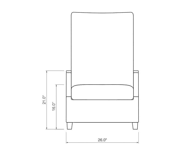 Polynesia Chaise Lounge | Front Product Dimensions | Paddy O' Furniture