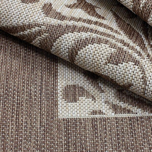Closeup of Florence - Mocha Rug | Shop Patio Accessories & Rugs | Paddy O' Furniture