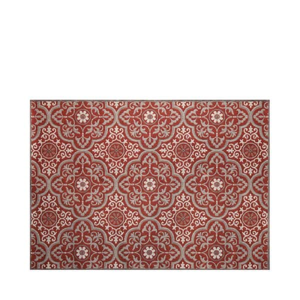 "7' 10"" X 10' Outdoor Rug (Mosaic - Ruby) 