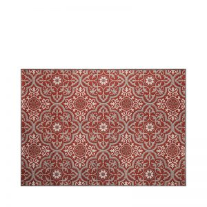 "5' 3"" X 7' 4"" Outdoor Rug (Mosaic - Ruby) 