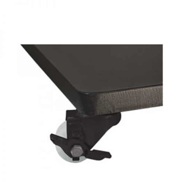 120 LB STEEL BASE W/ CASTERS - BLACK