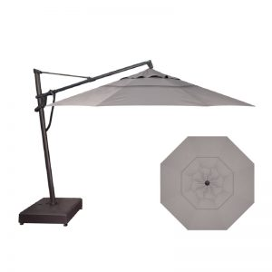 11' Cantilever Umbrella (Black Frame) | Boulder Sunbrella Fabric | Shop Umbrellas | Paddy O' Furniture