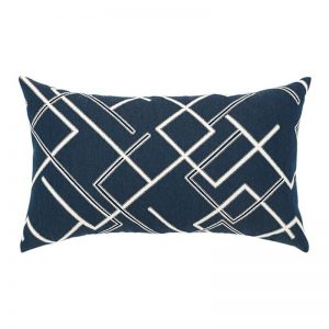 "12"" X 20"" Lumbar Pillow with Divergence Indigo Fabric"