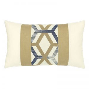 "12"" X 20"" Lumbar Pillow with Lustrous Lines Fabric"