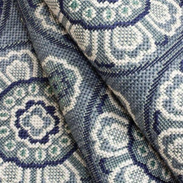 Closeup of Meridian - Steel Blue Rug | Shop Patio Accessories & Rugs | Paddy O' Furniture
