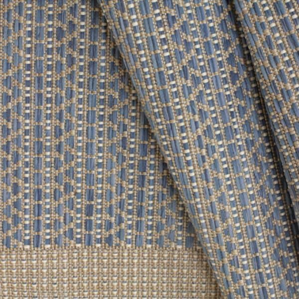 Closeup of North Shore - Sky Blue Rug | Shop Patio Accessories & Rugs | Paddy O' Furniture