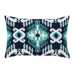 "12"" X 20"" Lumbar Pillow with Patras Ikat Lumbar Fabric"