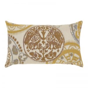 "12"" X 20"" Lumbar Pillow with Raya Waters Lumbar Fabric"
