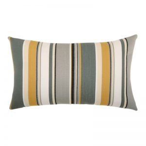 "12"" X 20"" Lumbar Pillow with Shadow Stripe Fabric"