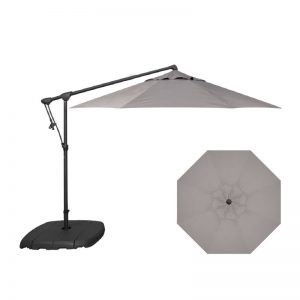 10' Cantilever Umbrella (Black Frame) | Boulder Sunbrella Fabric | Shop Umbrellas | Paddy O' Furniture