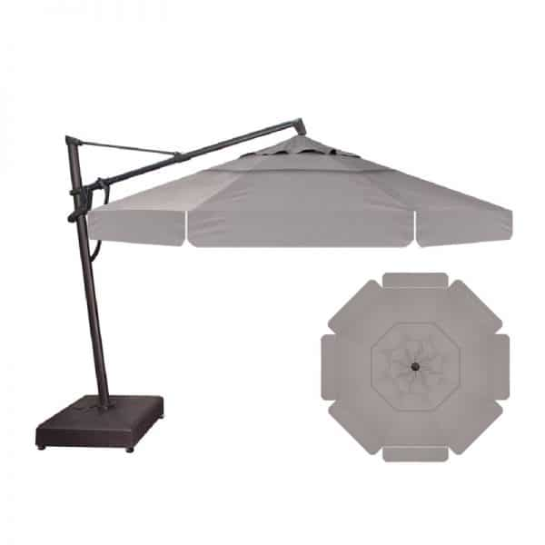13' Cantilever With Valance | Boulder Sunbrella Fabric | Shop Umbrellas | Paddy O' Furniture