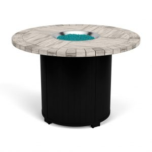 "54"" Round Balcony Firepit - Weathered Aqua Glass"