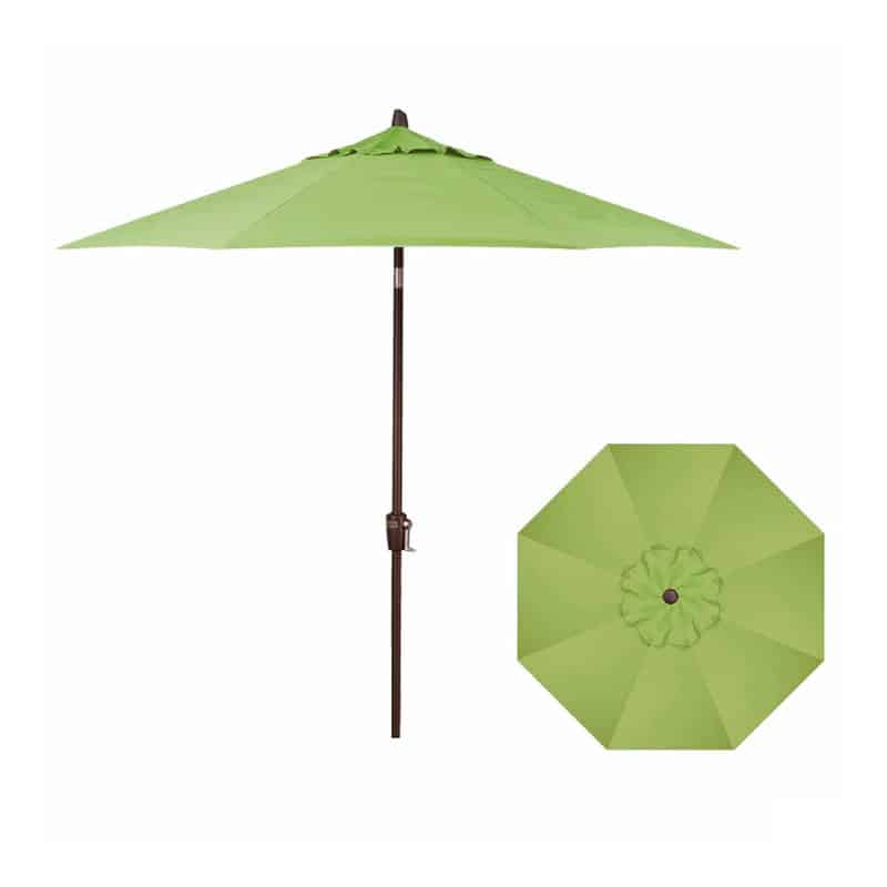 9' Push Button Tilt Umbrella (Black Frame) | Kiwi Fabric | Umbrellas | Shop | Paddy O' Furniture