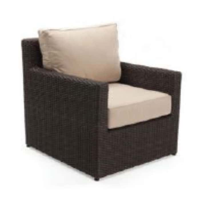 Capri Woven Club Lounge w/ Sunbrella Cushion